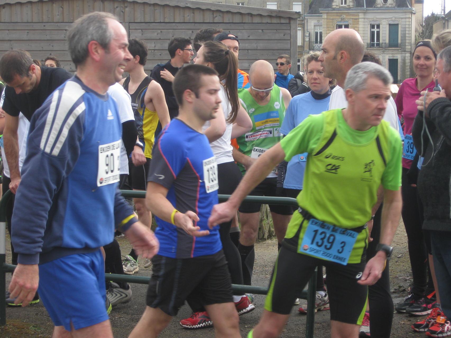 Passage de relais à Philippe de Louverné Running