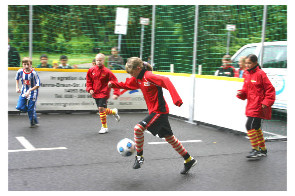 1. FC Union Mädchen beim Integration durch Sport-Cup TFT 06/2009