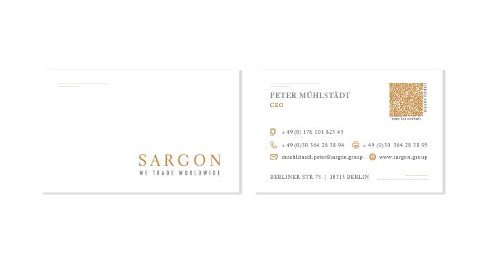 Visitenkarte- und Logoentwurf für