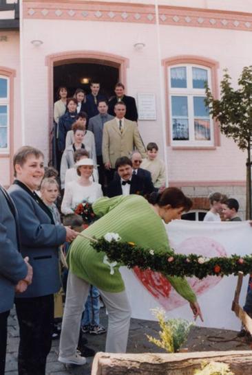 1. Schützenhochzeit: Aurike und Volker Krause