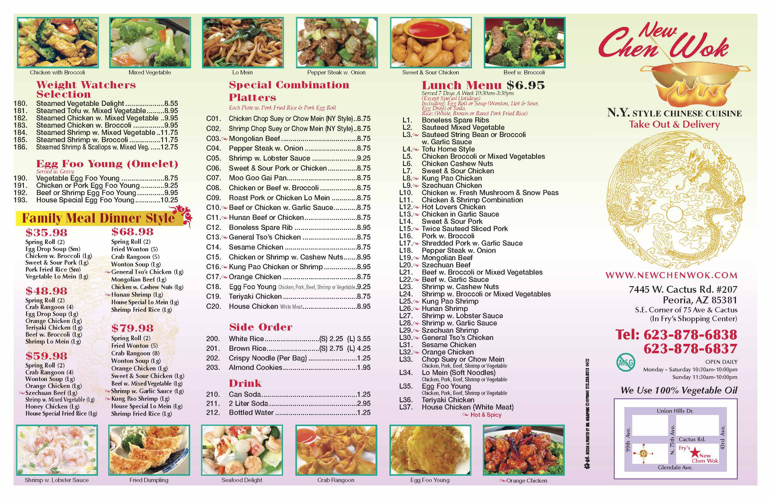 Menu Newchenwok Website