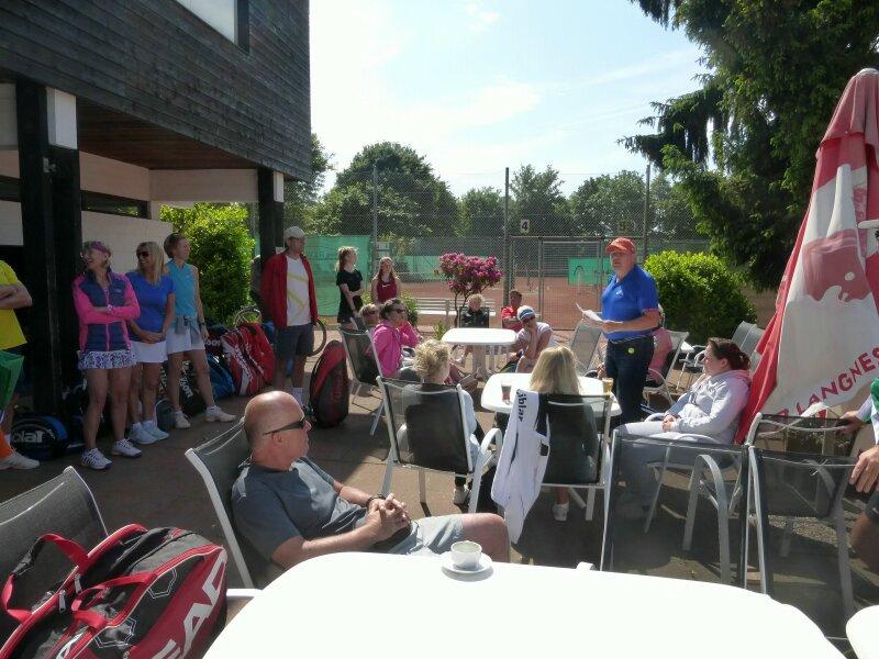 Über die Gäste aus befreundeten Tennisclubs freuten wir uns sehr!
