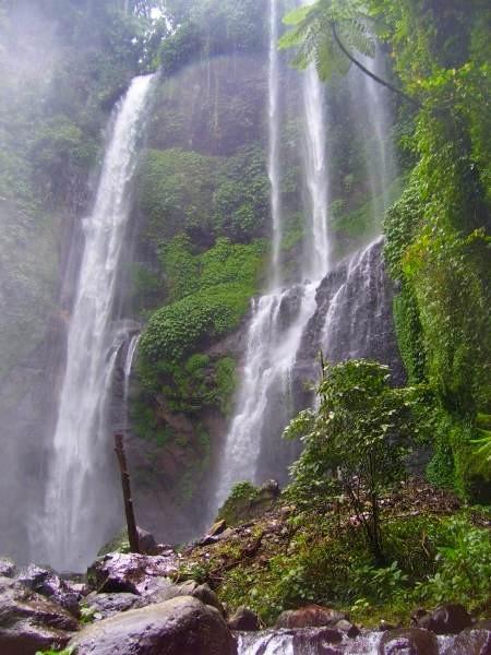 Ansicht des Wasserfalls