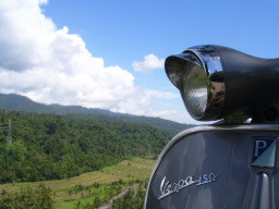 vespa in balinese landscape
