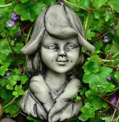 Elfenkopf Elfenköpfchen Blumenkinder Garten Gartenelfen Elfen