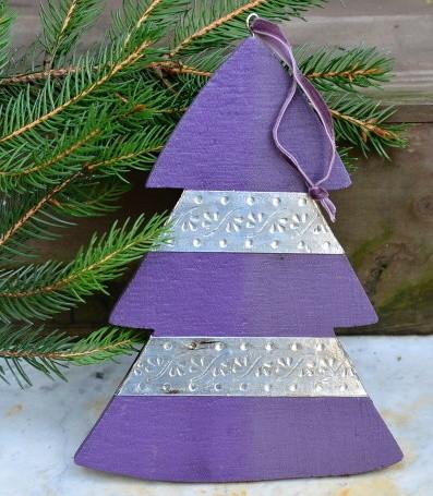 Weihnachtsdeko Lila Silber.Engelpaar Gold