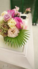 結婚式 ウェルカムフラワー ピンク系のお花でお任せ