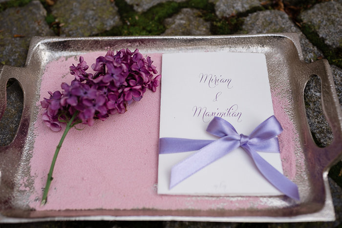 Hochzeitseinladung, Hochzeit, Efi, lila