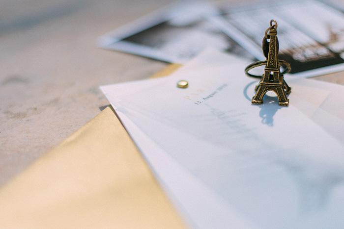 Hochzeit, Dankeskarte, Paris, Gestaltung, Design, Efi