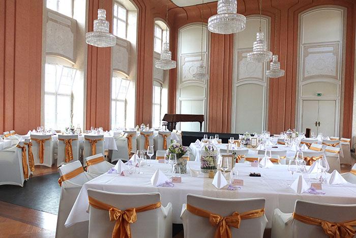 Schloss Tettnang, Hochzeit, Stuhlhussen, Efi, Hochzeitsdekoration