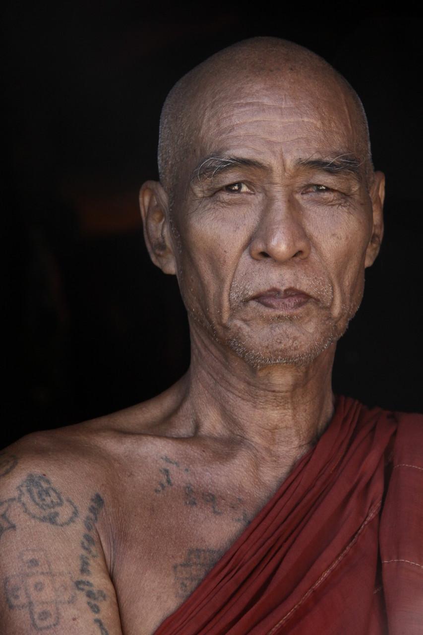 Kickboxer in Renten, Kloster bei Mandalay | Myanmar
