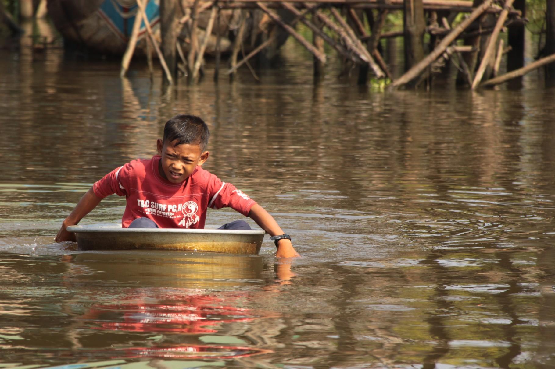 Flussquerung, Kampong Plug | Kambodscha