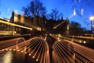 Lightning bridge in Amsterdam