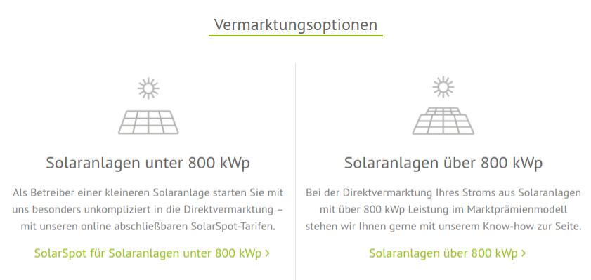 Direktvermarktung Regelenergie und Steuerung von größeren PV-Analgen.