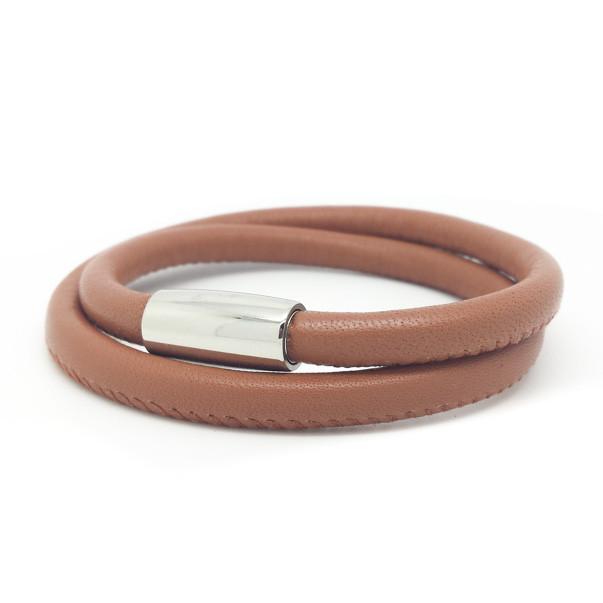 Nappalederarmband Edelstahlmagnetverschluss glänzend - 45,- Euro
