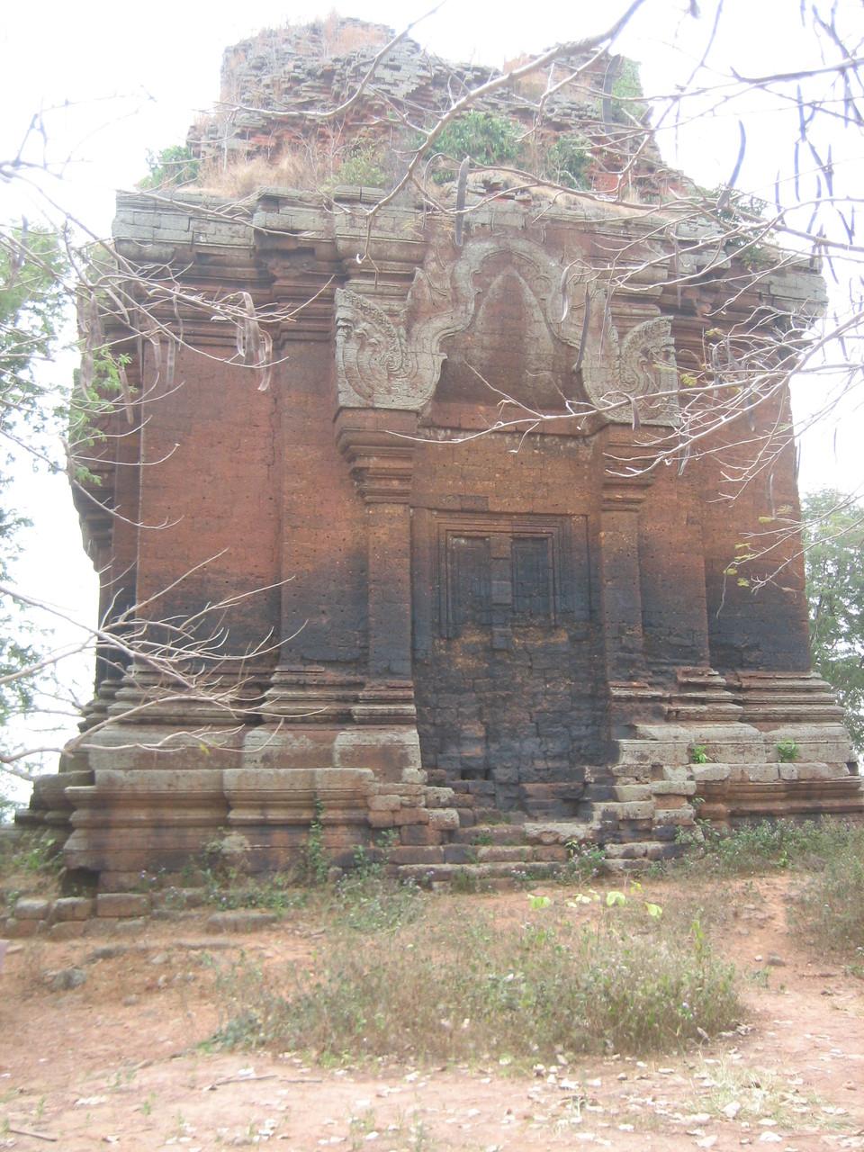 Le temple Phnom Da, dans la province de Takeo. Photo prise par Joseph Thach.