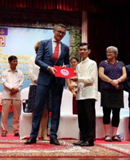 Cérémonie de remise des diplômes, en présence du Conseiller du SCAC de l'Ambassade de France au Cambodge - 17 décembre 2018