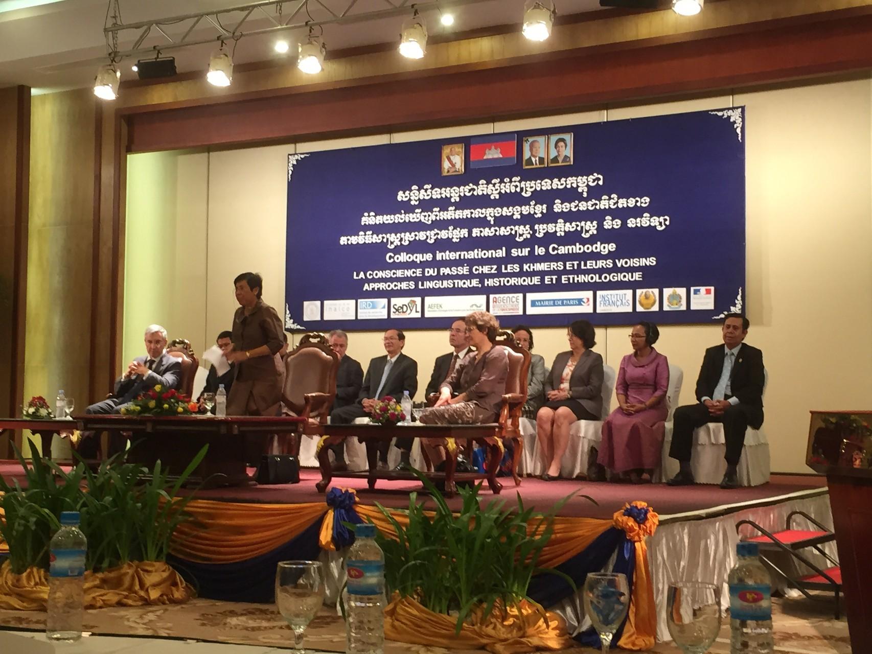 Cérémonie de clôture, Colloque internationale sur le Cambodge, Hôtel Phnom Penh, 15-17 décembre, 2014
