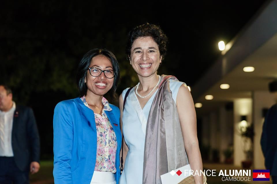 Soirée Alumni en présence de Mme l'Ambassadrice de France au Cambodge, Eva Nuyen Binh - décembre 2018