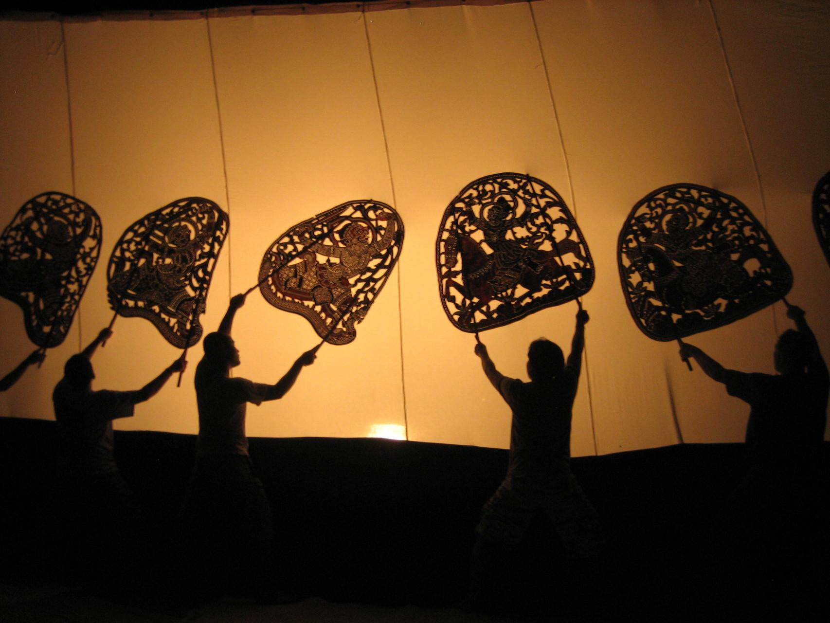 Le théâtre d'ombre « grand cuir ». Photo prise par Joseph Thach.
