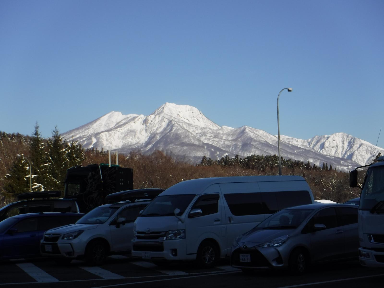 2/20(土)7:30 池の平スキー場Pから妙高山