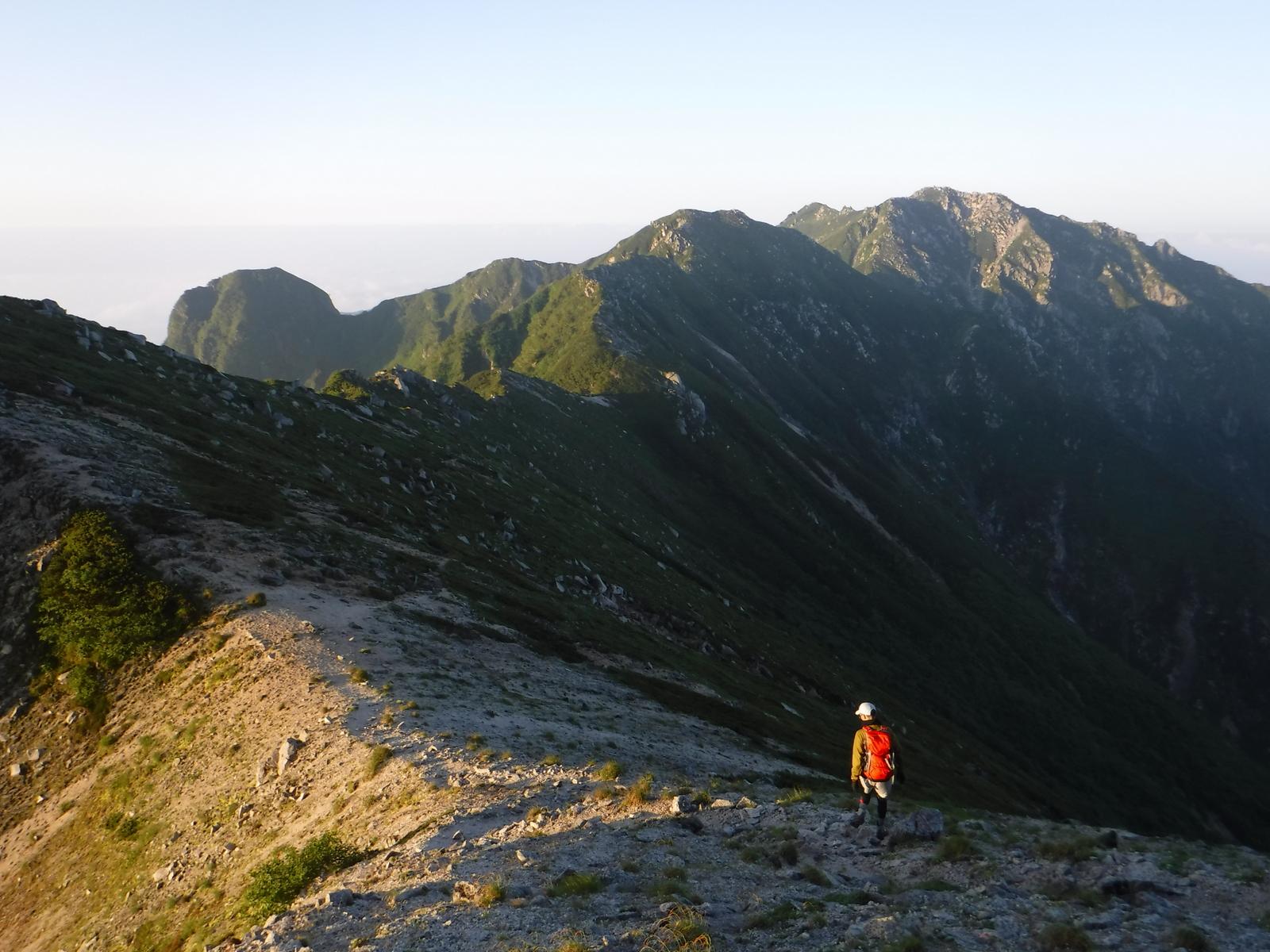 5:20 南駒ケ岳へ向かう