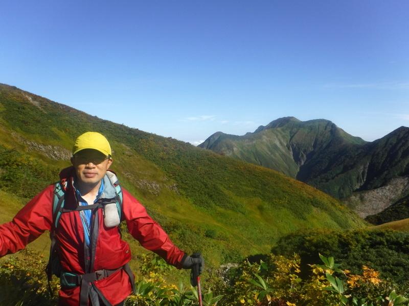 御月山稜線から駒ヶ岳