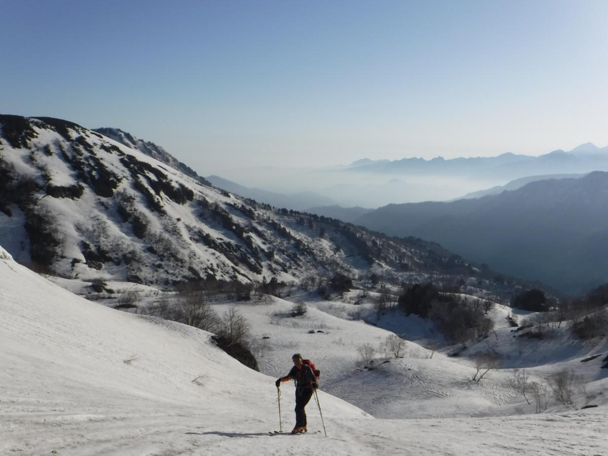 標高1,700m付近(頚城山塊を背に)