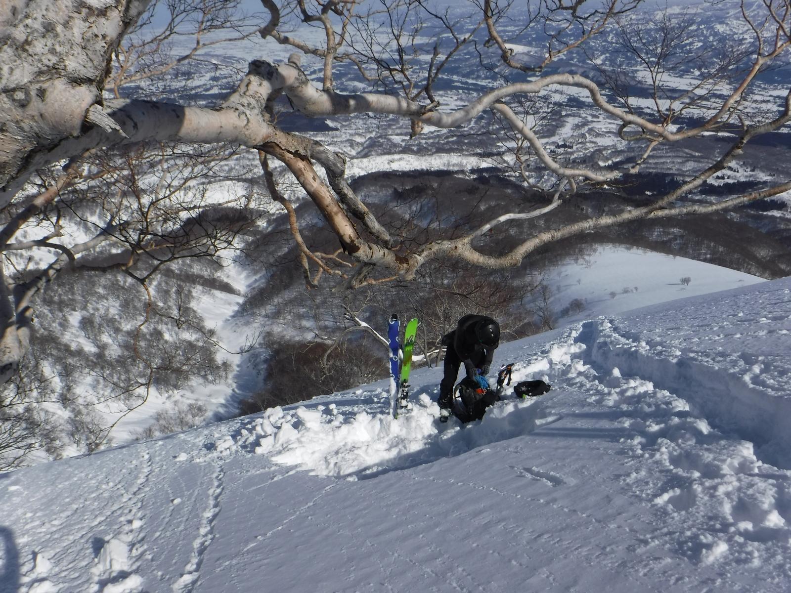 11:50 1600m付近でピットチェック、積雪2.5m程度