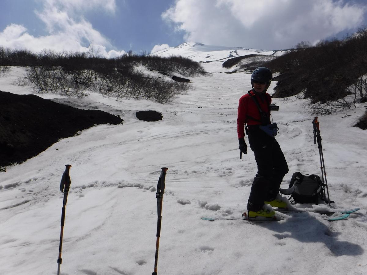 12:50 2400m地点、滑降終了