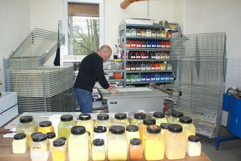 Herstellung von Farbmusterpaletten