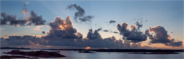 Tjörn, Bohuslän, Schweden, 03.09.2015, Sonnenuntergang