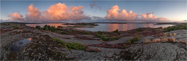 Tjörn, Bohuslän, Schweden, 03.09.2015, Sonnenaufgang