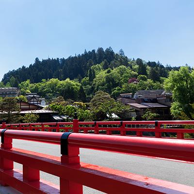 飛騨高山の赤橋