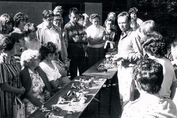 Pilzlehrgang mit Pilzberater Schäfer, 1982