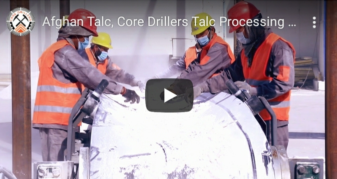 Core Drillers, the leading company of the Afghan Talc industry