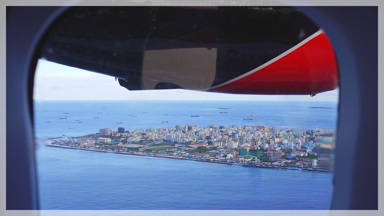 Blick auf die Inselhauptstadt Male/Malediven