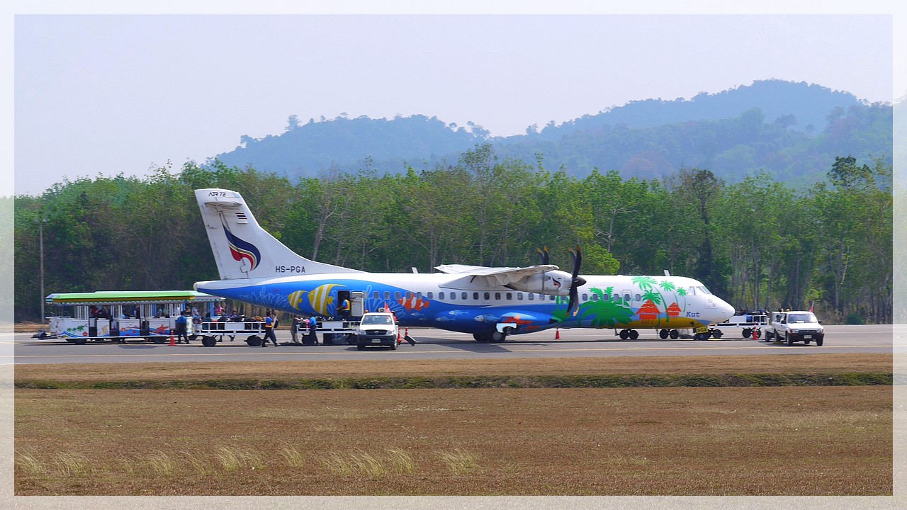Bangkok Airways am Airport Trat (Südost-Thailand)