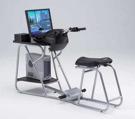 Motorrad-Fahrsimulator für leichtes Bedienen