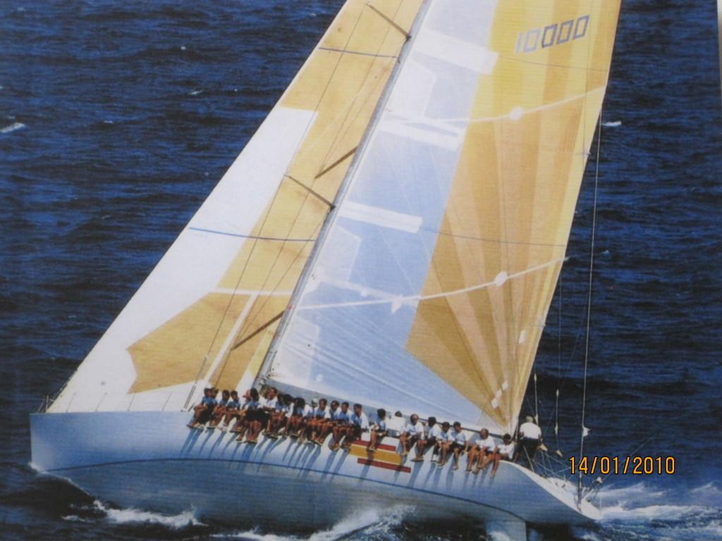 Crew vom spanischen König Juan Carlos auf der Hispania