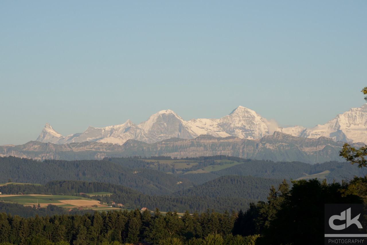 Finsteraarhorn, Eiger, Mönch, Jungfrau