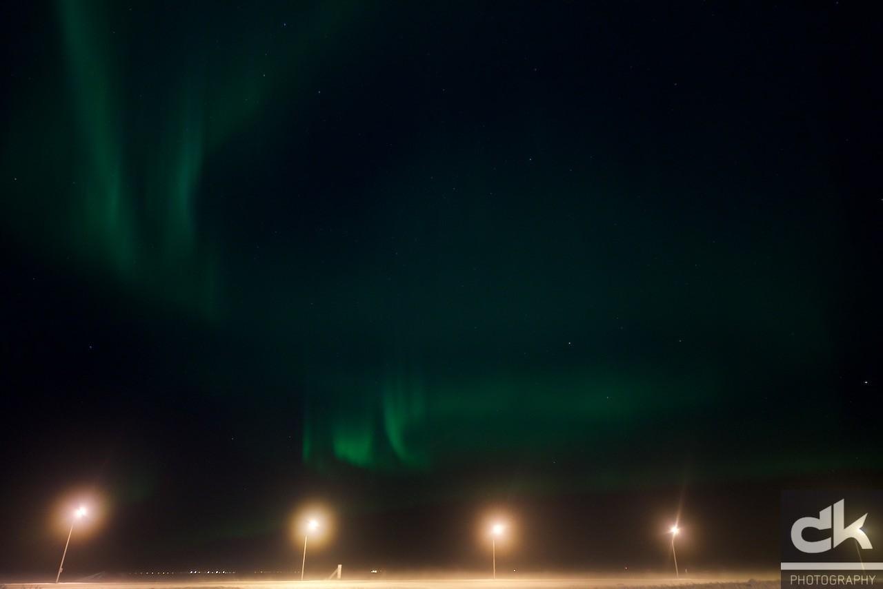 Aurora Borealis über Keflavik (12.02.2016)