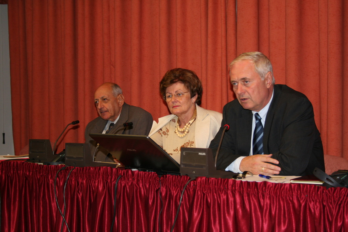 """New Knowledge And the Teachers"" by Professor András Benedek (1st from right)"
