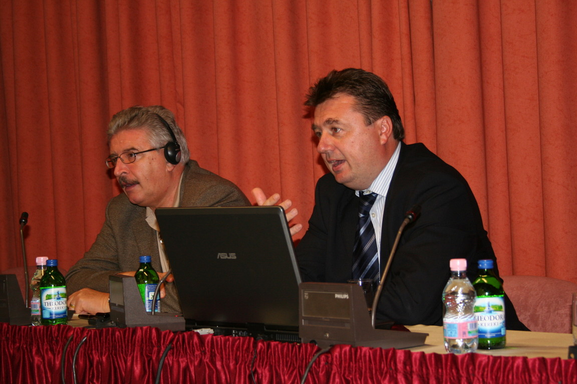 """New Knowledge – New Competences"" by Vilmos Vass (on the right)"