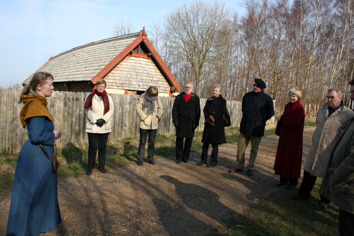 Viking Village, built by volunteers and children.