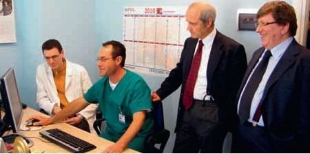 Teleconsulto a Porto Recanati con attrezzatuire donate dalla Fondazione Carima