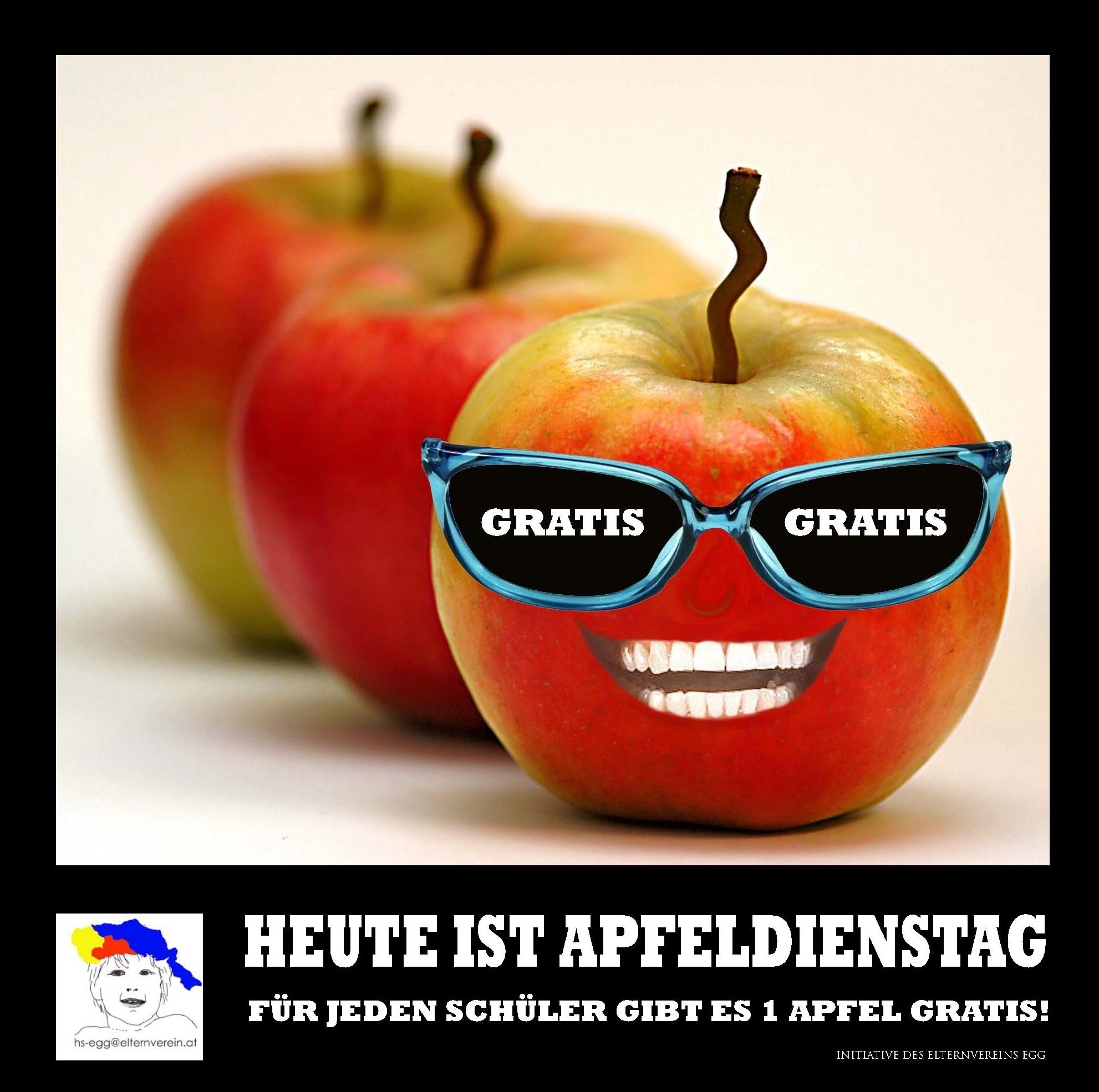 alle 14 Tage - knackige Jausenäpfel