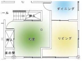 和室部分施工前図面