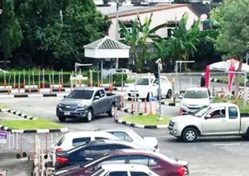 タイ国内の運転免許証実技試験