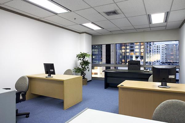 オフィスセンター内で賃貸している小規模スペース